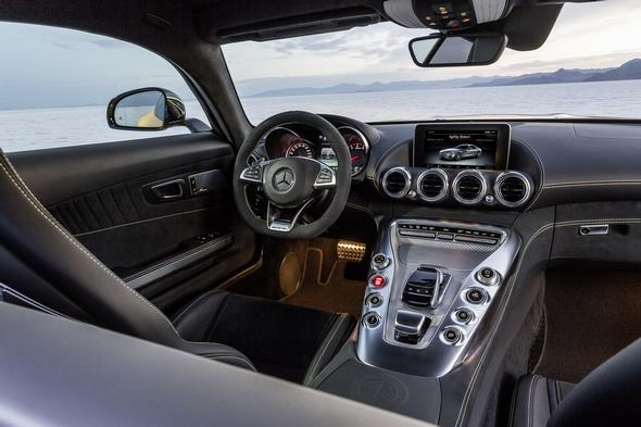 Mercedes-AMG GT (C 190) 2014; interior: Exclusive nappa leather black / DINAMICA Exclusive microfibre black