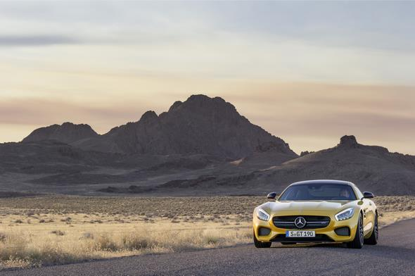 Mercedes-AMG GT (C 190) 2014, exterior: AMG solarbeam; AMG Exterior Night package