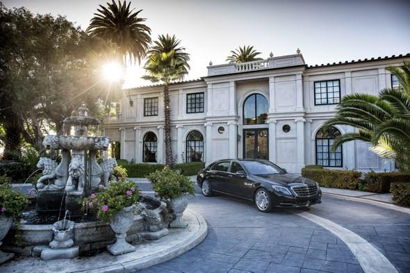 Mercedes-Maybach S 600 and S-Class Model Range pressdrive Santa Barbara 2015 , S600 Peridot Brown metallic, Exclusive Nappa Leather Nut Brown / Black