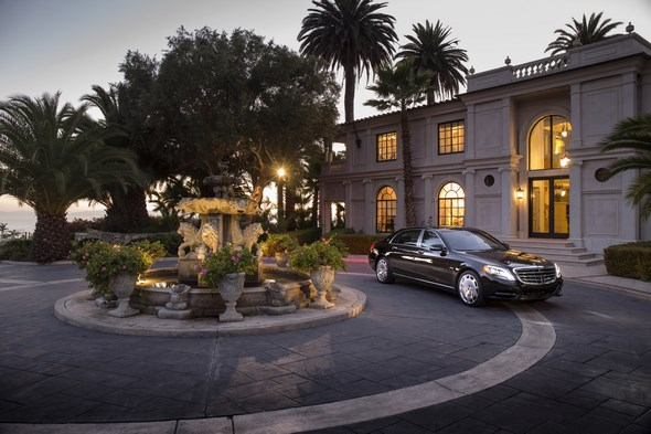 Mercedes-Maybach S 600 and S-Class Model Range pressdrive Santa Barbara 2015 , S600 Peridot Brown metallic, Exclusive Nappa Leather Nut Brown / Black