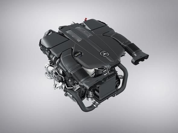 V6 Biturbo Benzinmotor des GLE 500 e 4MATIC  (2015) V6 biturbo petrol engine of the GLE 500 e 4MATIC