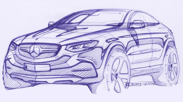 Mercedes-Benz GLE Coupé (C 292) 2015, Designskizze, design sketch