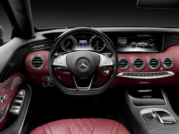 Mercedes-Benz S-Klasse Cabrio ( A 217 ) 2015. S 500 mit AMG-Line, Alanitgrau magno, Leder bengalrot/schwarz