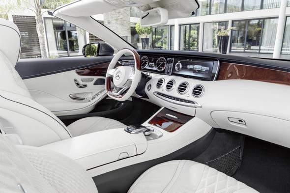 Mercedes-Benz S-Klasse Coupé Cabrio ( A 217 ) 2015. S 500, Selenitgrau, Interieur: Leder porzellan/tiefseeblau