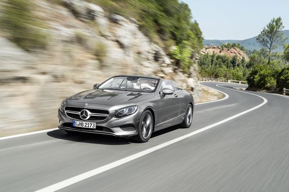 Mercedes-Benz S-Klasse Cabrio ( A 217 ) 2015.S 500, Selenitgrau, Interieur: Leder porzellan/tiefseeblau