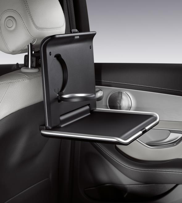 Original-Zubehör für den GLC: Style & Travel Equipment, Basisträger und Klapptisch Mercedes-Benz GLC genuine accessories: Style & Travel Equipment and folding table