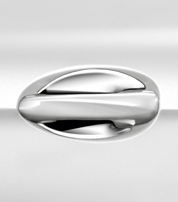 Original-Zubehör für den GLC: Türgriffschale, 2-teiliges Set, hochglanzverchromt Mercedes-Benz GLC genuine accessories: High-sheen chromed door handle recesses, set of 2
