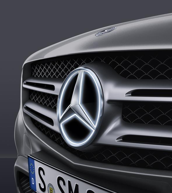 Original-Zubehör für den GLC: Mercedes Stern, beleuchtet Mercedes-Benz GLC genuine accessories: Illuminated Mercedes star