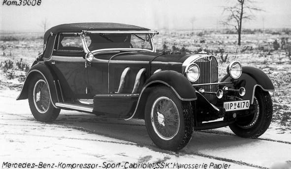 """Mercedes-Benz Typ SSK, Cabriolet A, Bauzeit: 1928 bis 1932. Karosserie """"Papler""""."""