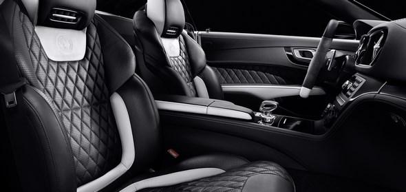 Mercedes-Benz SL AMG 2LOOK Edition, Sportsitze in Leder Exklusiv Nappa mit designo platinweißen Elementen