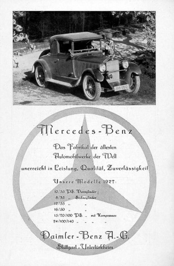 Werbeanzeigen Pkw 1927