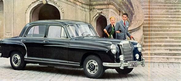"""""""Ponton-Mercedes"""" Typ 220 S, 1956-57 (mit vorderer Stoßstange der ersten Ausführung)"""