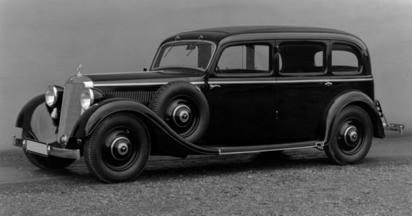 Mercedes-Benz Typ 320, 78 PS, Pullman-Limousine, Bauzeit: 1937 bis 1942.