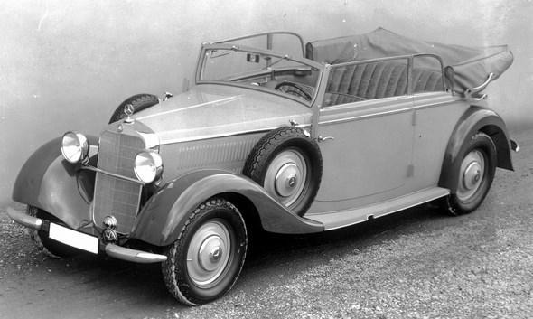 Mercedes-Benz Typ 260 D, 45 PS, Cabriolet B, Bauzeit: 1937 bis 1940.