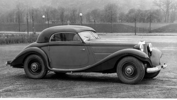 Mercedes-Benz Typ 320n, 78 PS, Kombinations-Coupe, Bauzeit: 1937 bis 1938.