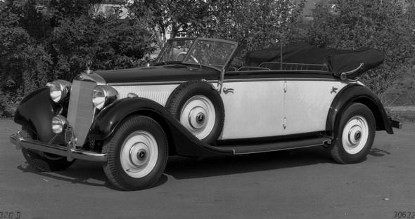 Mercedes-Benz Typ 320, 78 PS, Cabriolet D, Bauzeit: 1937 bis 1942.