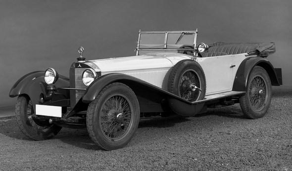 Mercedes-Benz Typ S, 26/120/180 PS, Tourenwagen, Bauzeit: 1926 bis 1930.