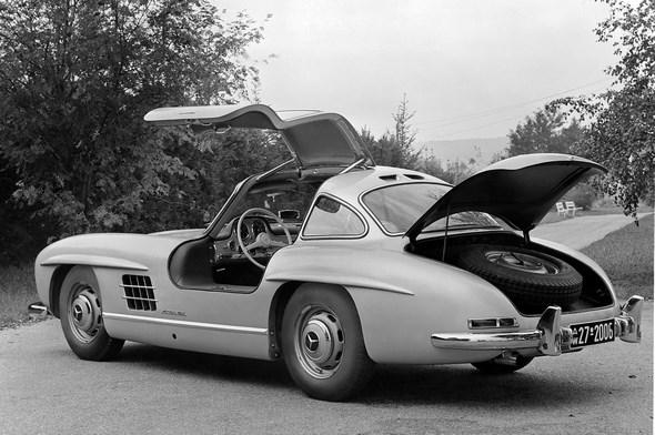 Mercedes-Benz Typ 300 SL Coupé, aus dem Jahre 1954.