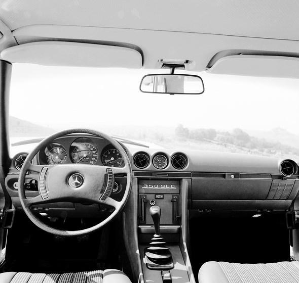 Armaturen, Mercedes-Benz SLC-Coupé Typ 350 SLC, aus den Jahren 1972 bis 1981