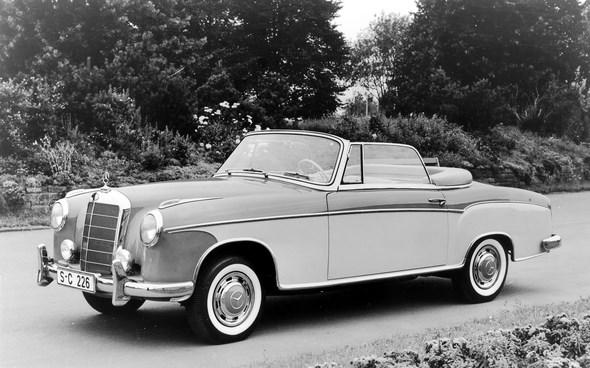 Mercedes-Benz Typ 220 S Cabriolet, 1956-57 (mit vorderer Stoßstange der ersten Ausführung)