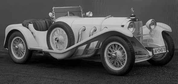 Sportwagen Mercedes-Benz Typ SSK, 27/160/200 PS, Bauzeit: 1929 bis 1932.