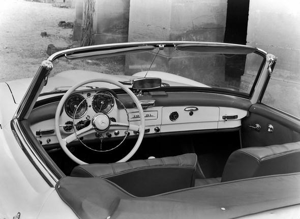 Armaturen des Mercedes-Benz Typ 190 SL Roadster. Ausführung ab 1958.