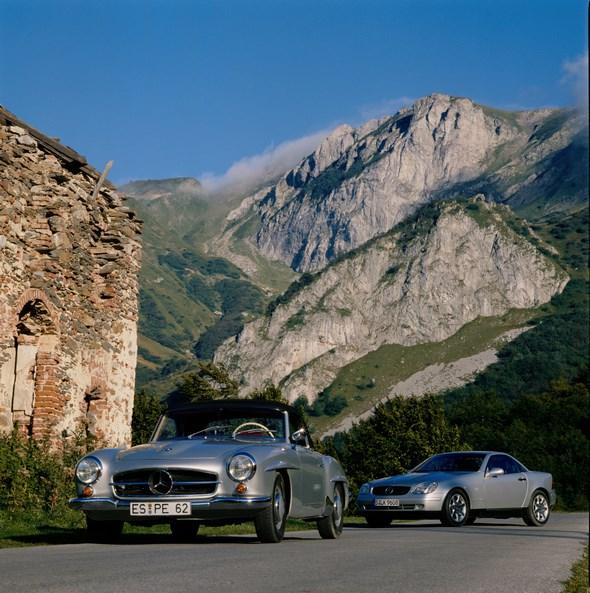Mercedes-Benz Typ SLK 200 Kompressor der Baureihe 170, Merceds-Benz Typ 190 SL der Baureihe 121