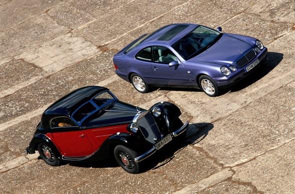 Mercedes-Benz Typ 320 n Kombinations-Coupé der Baureihe 142, Mercedes-Benz Typ CLK 230 Kompressor der Baureihe 208