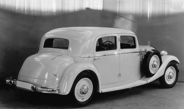 Mercedes-Benz Typ 260 D, 45 PS, Limousine, Bauzeit: 1936 bis 1937.
