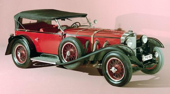 Mercedes-Benz Sportwagen Typ S mit Kompressor aus dem Jahre 1927.