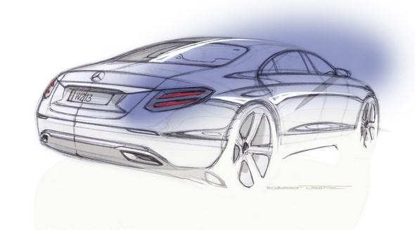 E-Klasse Designskizze E-Class design sketch