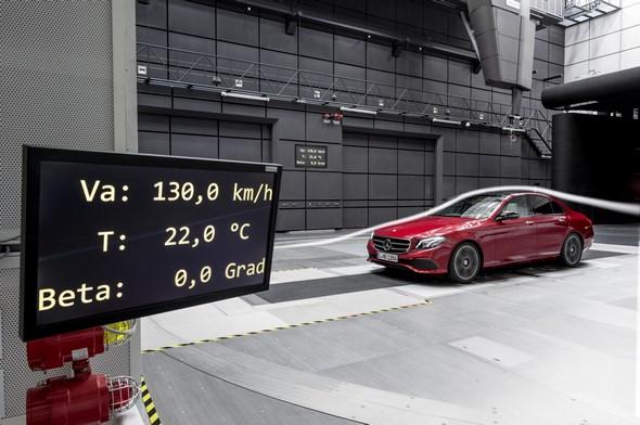 Mercedes-Benz E-Klasse (W 213) im Windkanal 2016 Mercedes-Benz E