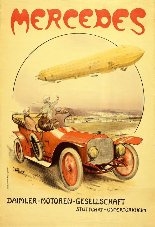Mercedes 14/30 PS, Plakat von Henri Rudaux, um 1911
