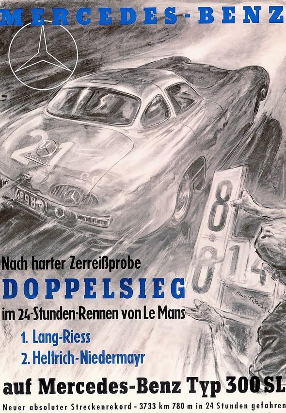 Le Mans, 1952, Plakat von Hans Liska