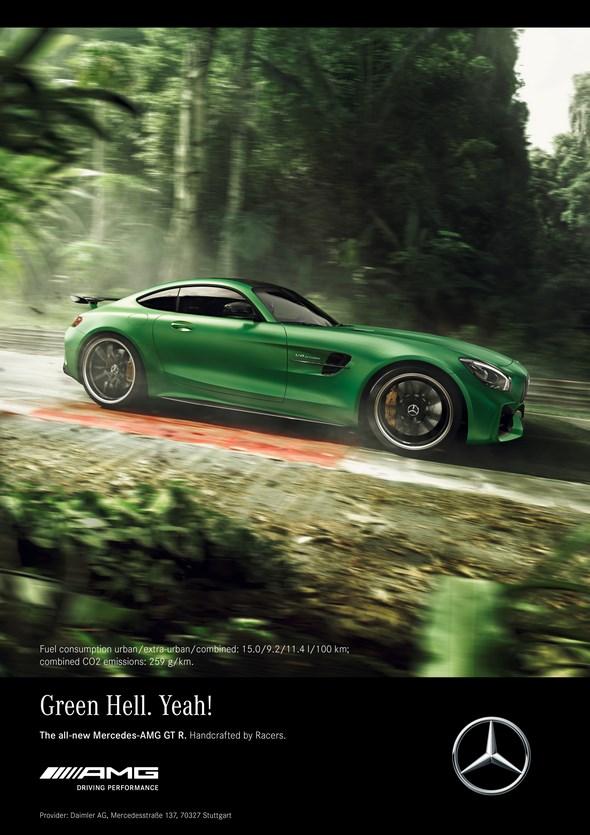 """Kampagne zur Weltpremiere des neuen Mercedes-AMG GT R: Lewis Hamilton bändigt das Biest aus der """"Grünen Hölle"""""""
