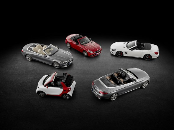 Cabriolets von Mercedes-Benz Cars